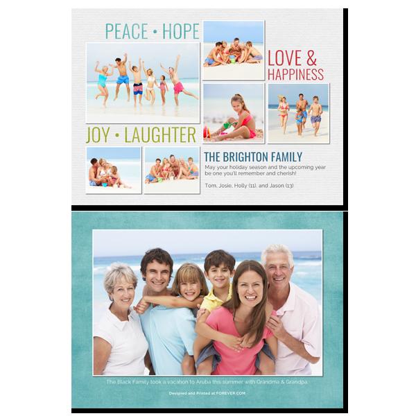 Peace Hope Joy Love Card Card