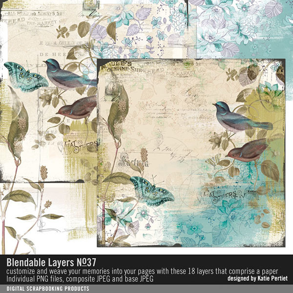 Blendable Layers No. 37 Digital Art - Digital Scrapbooking Kits