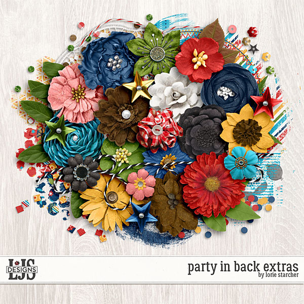 Party In The Back Extras Digital Art - Digital Scrapbooking Kits