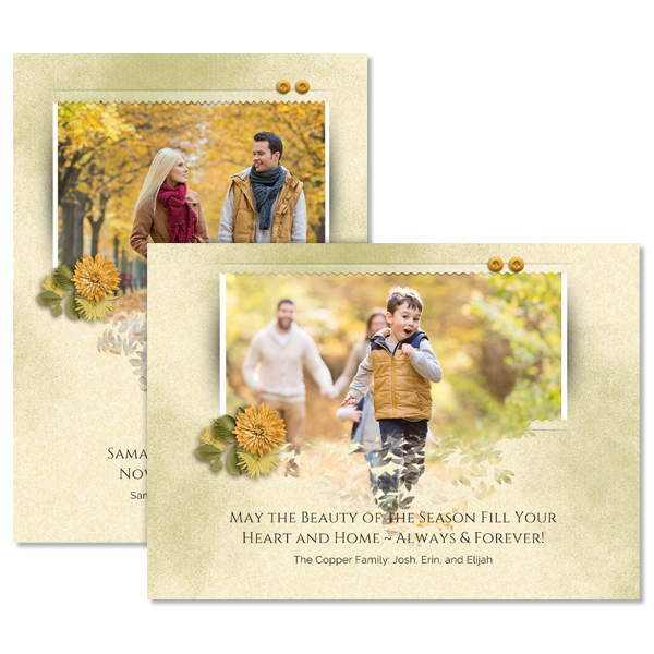 Spilling Out Fall Card Card