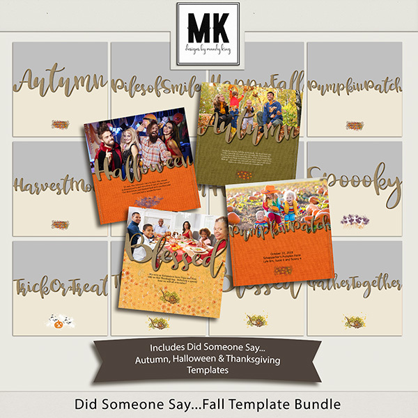 Did Someone Say Fall Bundle Digital Art - Digital Scrapbooking Kits