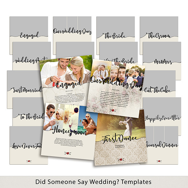 Did Someone Say Wedding Templates Digital Art - Digital Scrapbooking Kits