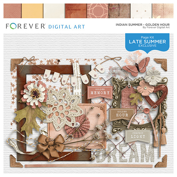Indian Summer - Golden Hour Digital Art - Digital Scrapbooking Kits