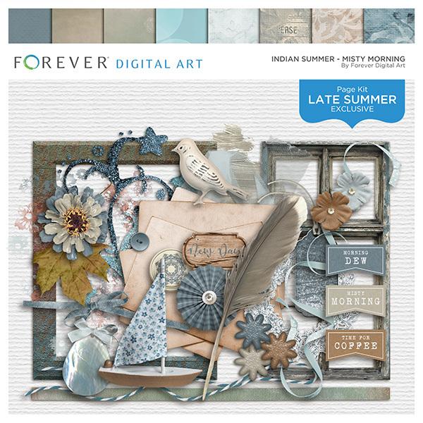 Indian Summer - Misty Morning Digital Art - Digital Scrapbooking Kits