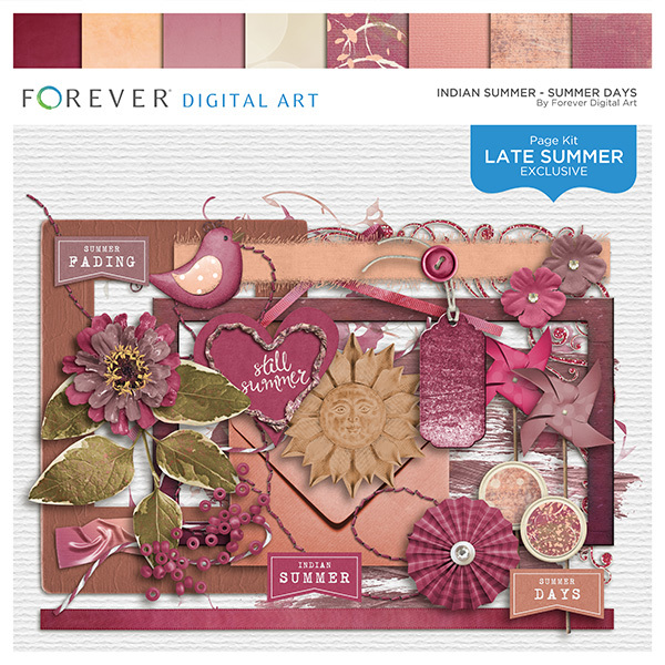 Indian Summer - Summer Days Digital Art - Digital Scrapbooking Kits