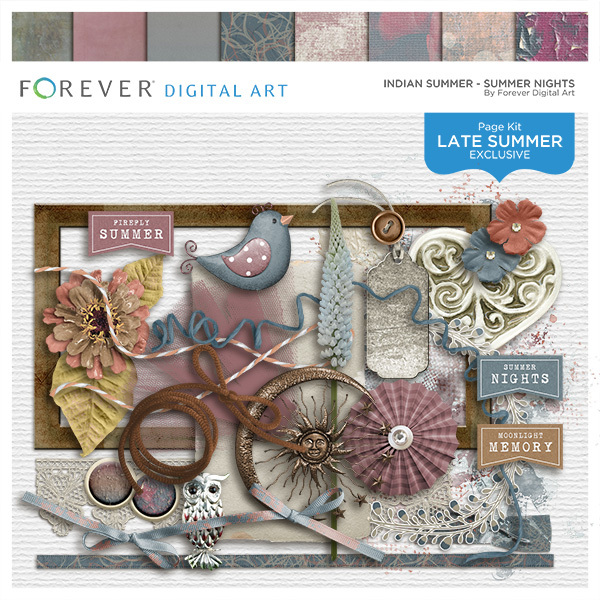 Indian Summer - Summer Nights Digital Art - Digital Scrapbooking Kits