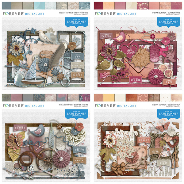 Indian Summer Complete Collection Digital Art - Digital Scrapbooking Kits