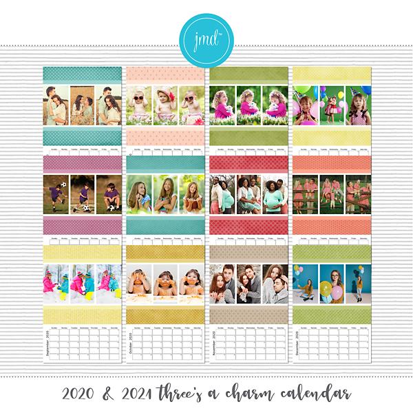 2020 & 2021 Three's a Charm Calendar