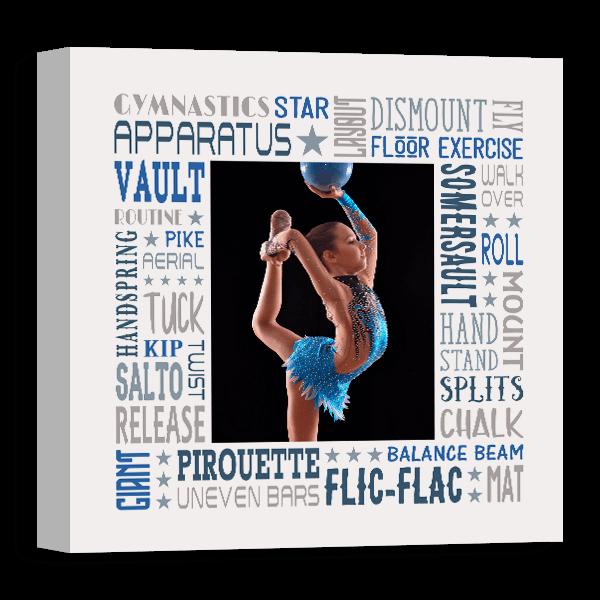 Gymnastics Star Female Subway Canvas
