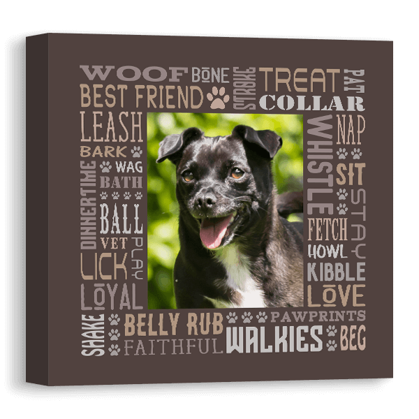 A Dogs Life Subway Canvas Canvas