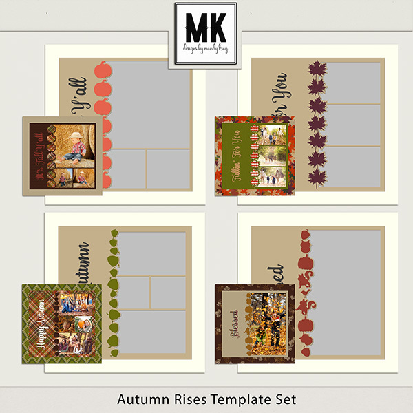 Autumn Rises Templates Digital Art - Digital Scrapbooking Kits