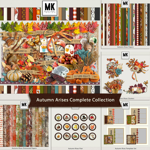Autumn Rises Complete Collection Digital Art - Digital Scrapbooking Kits