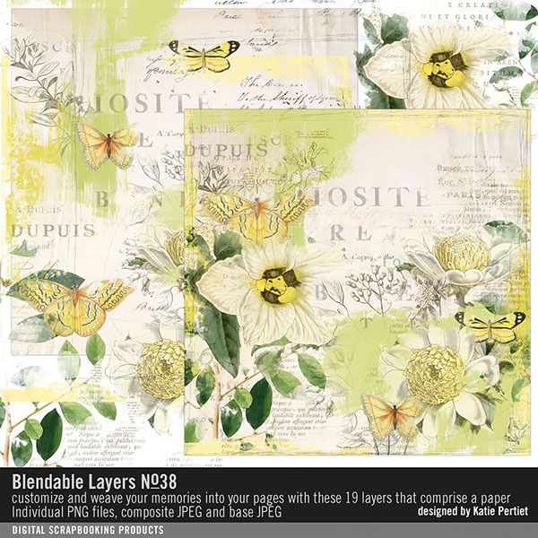 Blendable Layers No. 38 Digital Art - Digital Scrapbooking Kits
