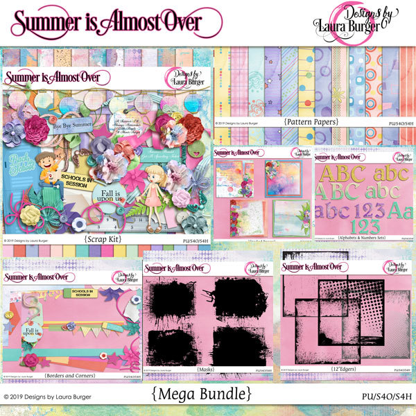 Summer Is Almost Over Bundle Digital Art - Digital Scrapbooking Kits