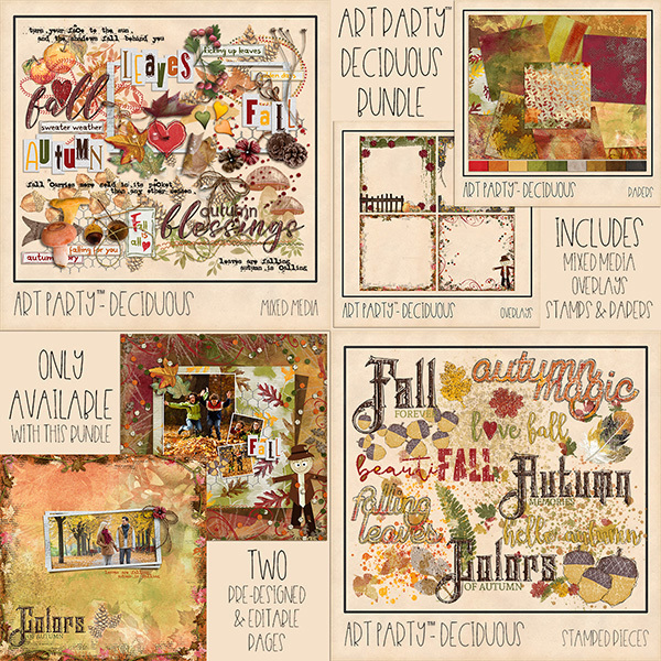 Deciduous Complete Collection Digital Art - Digital Scrapbooking Kits