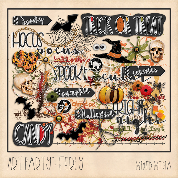 Ferly Mixed Media Elements Digital Art - Digital Scrapbooking Kits