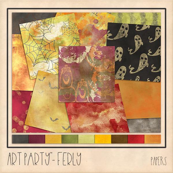 Ferly Papers Digital Art - Digital Scrapbooking Kits