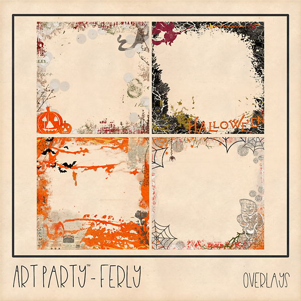 Ferly Overlays Digital Art - Digital Scrapbooking Kits