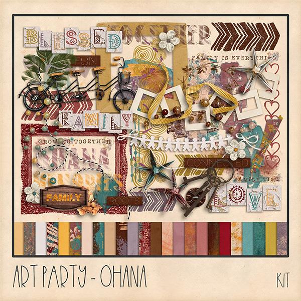 Ohana Kit Digital Art - Digital Scrapbooking Kits