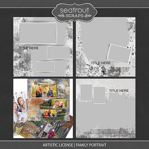 Artistic License Family Portrait Digital Art - Digital Scrapbooking Kits