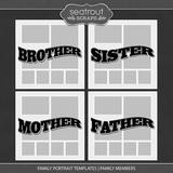 Family Portrait Templates - Family Members