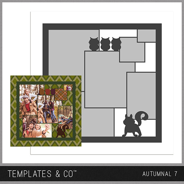 Autumnal 7 Digital Art - Digital Scrapbooking Kits