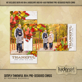 Simply Thankful 8x4 Pre-Designed Cards