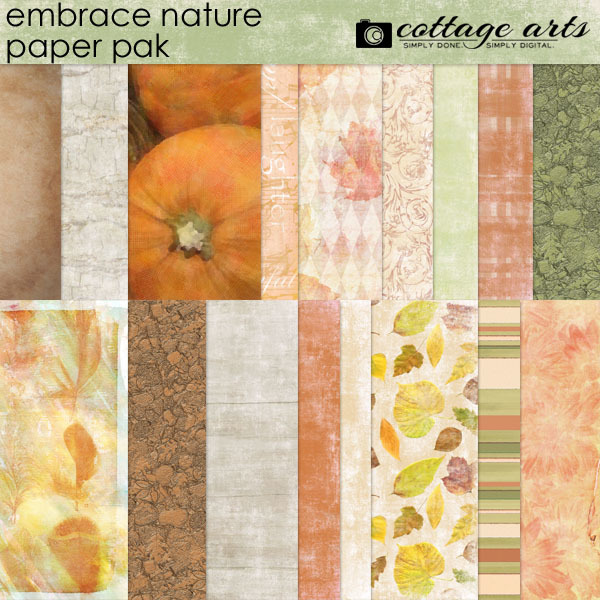 Embrace Nature Paper Pak Digital Art - Digital Scrapbooking Kits