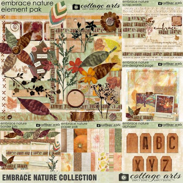Embrace Nature Collection Digital Art - Digital Scrapbooking Kits