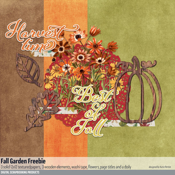 Fall Garden Freebie Digital Art - Digital Scrapbooking Kits