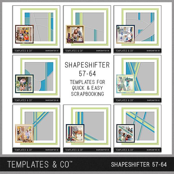 Shapeshifter 57-64 Digital Art - Digital Scrapbooking Kits