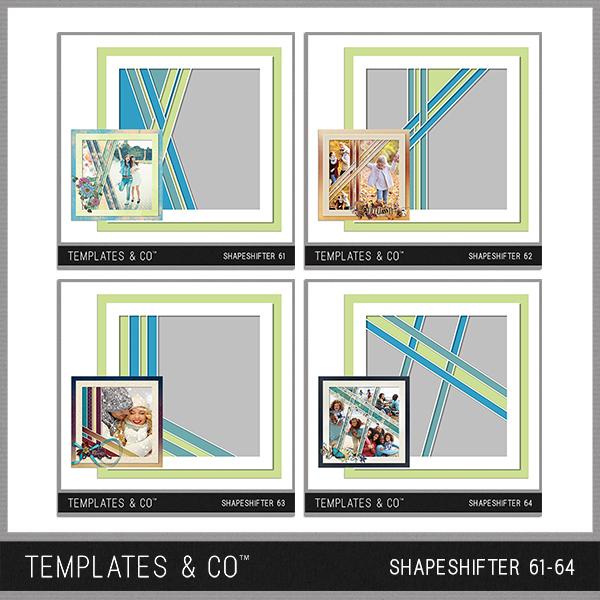 Shapeshifter 61-64 Digital Art - Digital Scrapbooking Kits