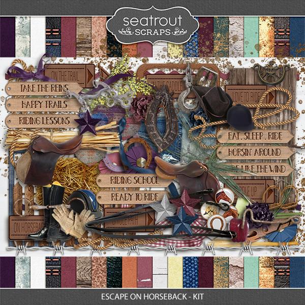 Escape on Horseback - Kit Digital Art - Digital Scrapbooking Kits