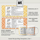 Sweet Recipe Mug Templates Set 1