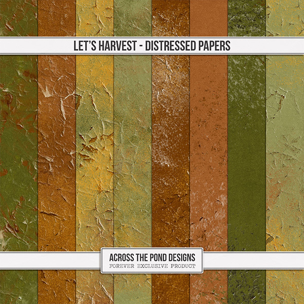 Let's Harvest Distressed Papers Digital Art - Digital Scrapbooking Kits
