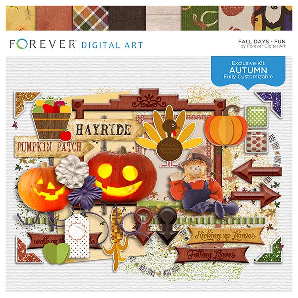 Fall Days - Fun Digital Art - Digital Scrapbooking Kits