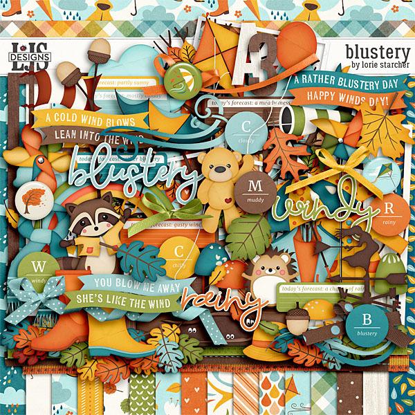 Blustery Digital Art - Digital Scrapbooking Kits