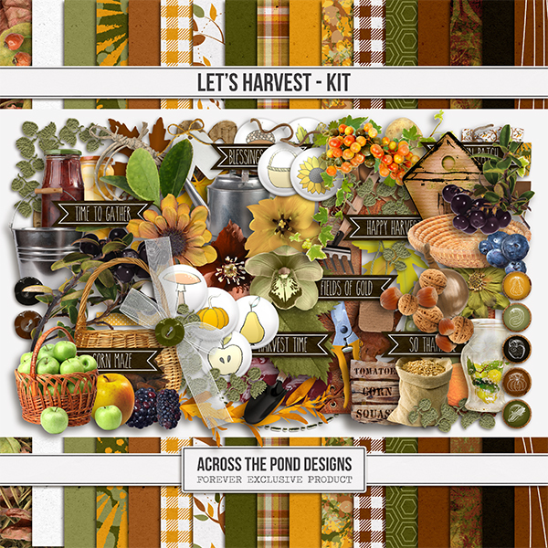 Let's Harvest Kit Digital Art - Digital Scrapbooking Kits