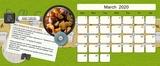 Cookbook Desktop Calendar