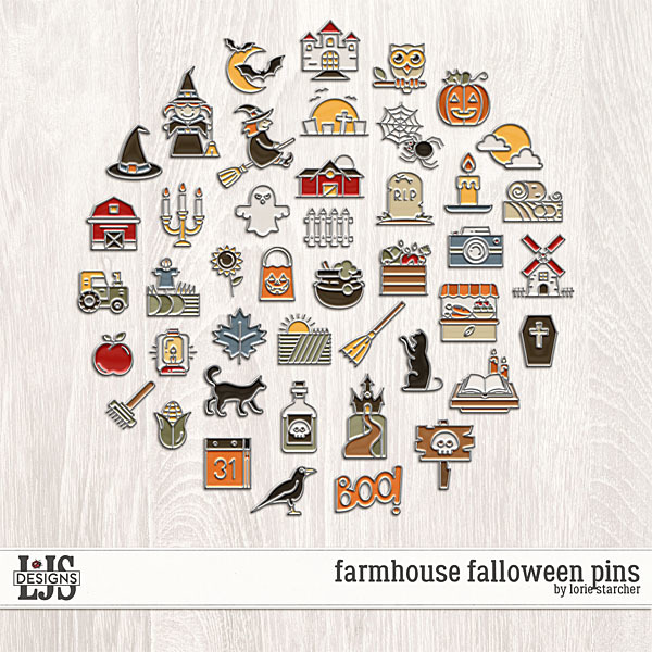 Farmhouse Falloween Pins