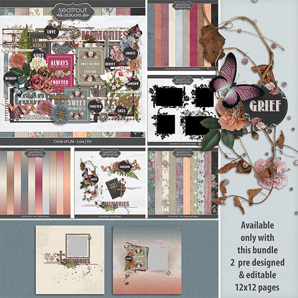 Circle of Life - Loss Bonus Bundle Digital Art - Digital Scrapbooking Kits