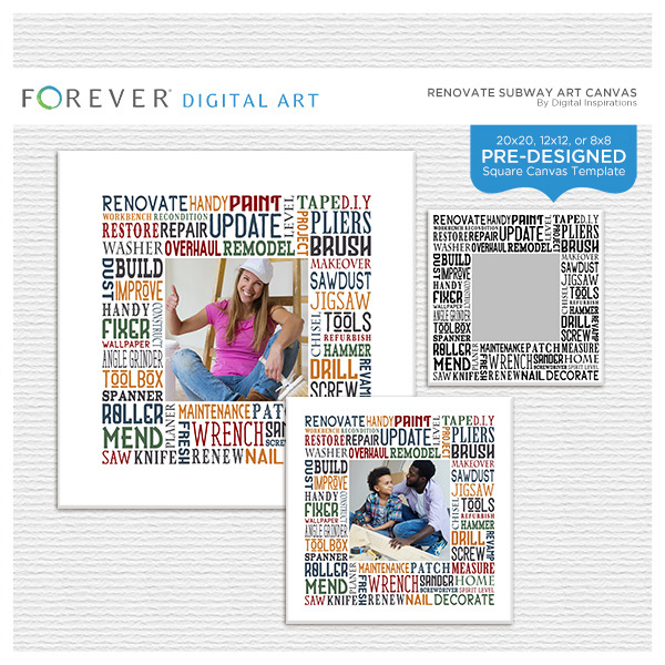 Renovate Subway Art Canvas Digital Art - Digital Scrapbooking Kits