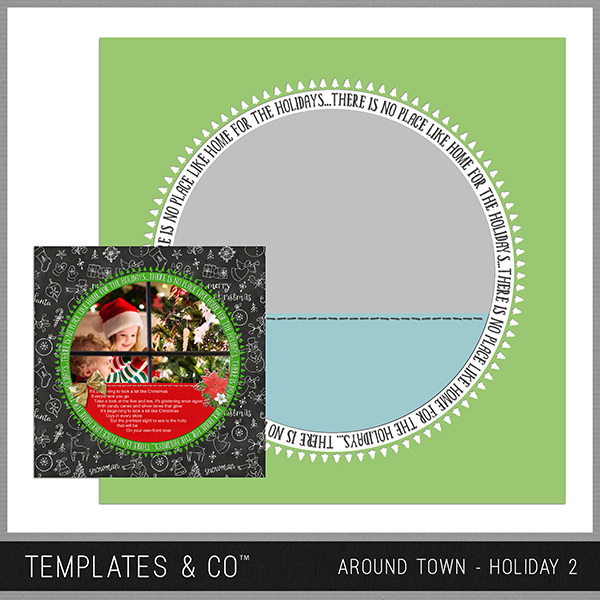 Around Town - Holiday 2 Digital Art - Digital Scrapbooking Kits