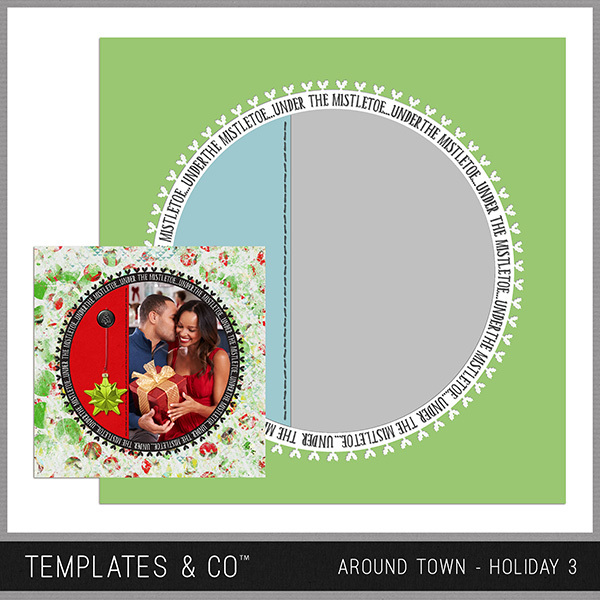 Around Town - Holiday 3 Digital Art - Digital Scrapbooking Kits