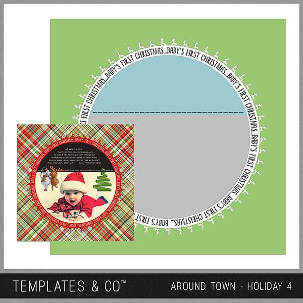 Around Town - Holiday 4 Digital Art - Digital Scrapbooking Kits