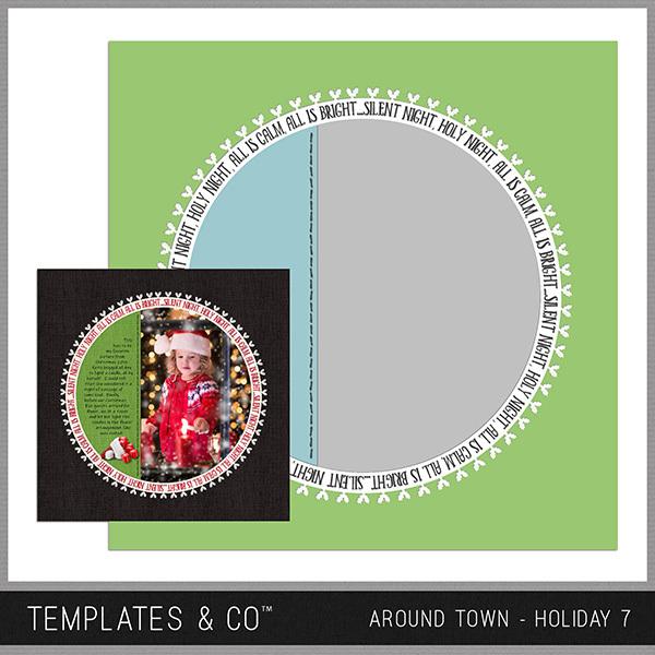 Around Town - Holiday 7 Digital Art - Digital Scrapbooking Kits