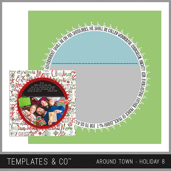 Around Town - Holiday 8 Digital Art - Digital Scrapbooking Kits