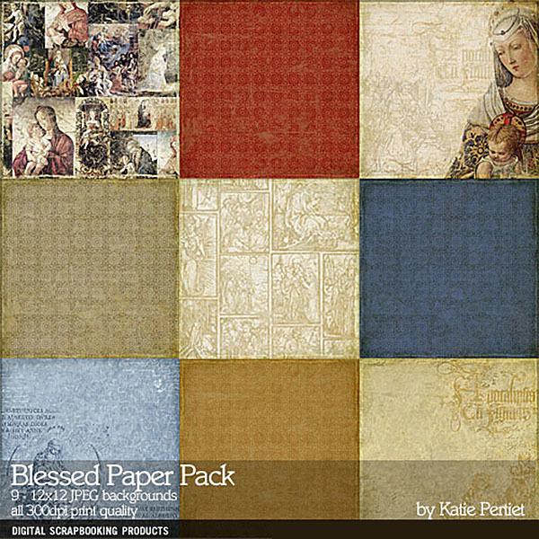 Blessed Paper Pack Digital Art - Digital Scrapbooking Kits