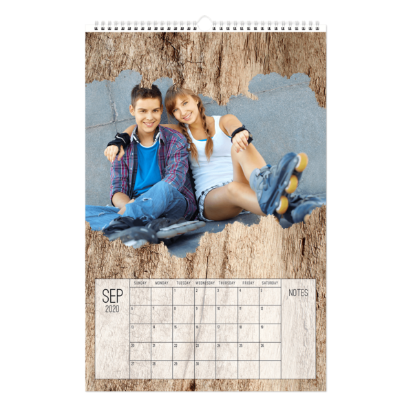 Artistic License Dark Wood Calendar