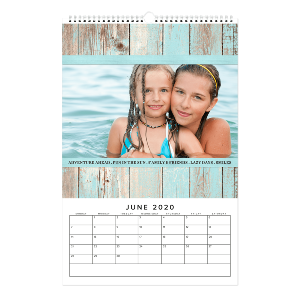 Bright and Rustic Wood Calendar